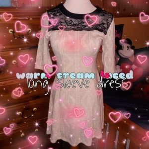 Cream laced dress 💝👗
